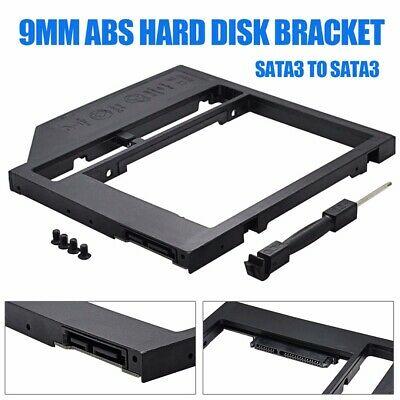 "2nd SATA Second HDD Caddy To SATA 2.5"" HDD SSD 9.0mm Enclosure For Laptop CD ROM"