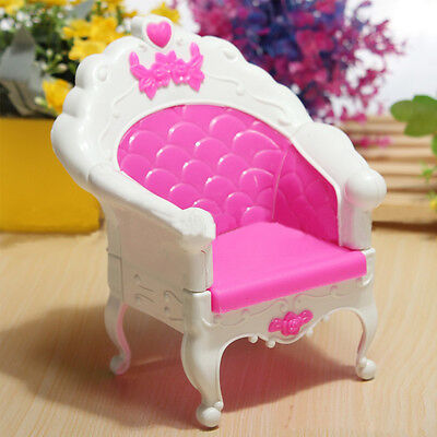 Furniture Living Room Pink Parlour Sofa Chair for Dollhouse Toys