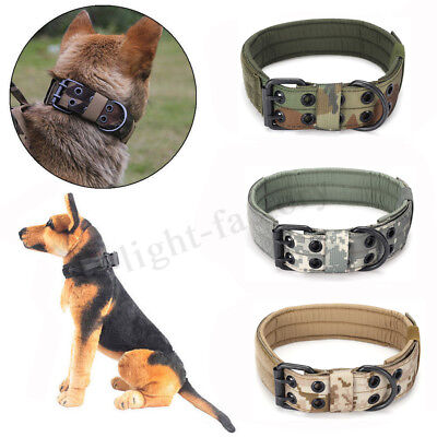 M Size 1000D Dog Collar Military Tactical with Metal Buckle Dog Training Collar