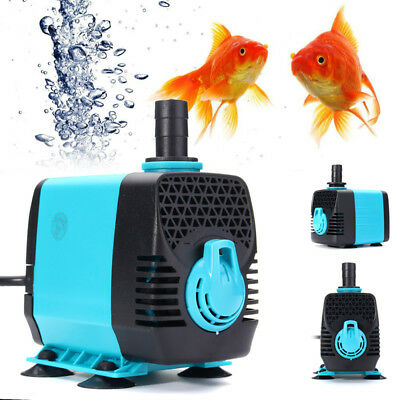 220-240V Submersible Water Filter Pump Air Aquarium Pond Tank Waterfall Fountain