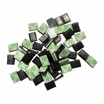 40pc Car Cable Clamp Wire Clips Tie Holder Rectangle Cord Mount Pretty  Magic