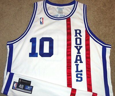 bf2813ce0ee9 Vtg Authentic Mike Bibby Cincinnati Royals Nba Hardwood Reebok Kings Jersey  48