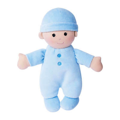 My First Baby Organic DOLL Blue - 100% Organic Cotton, incl filling - Apple Park
