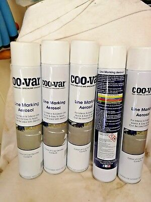 5 cans of coo-var line marking spray