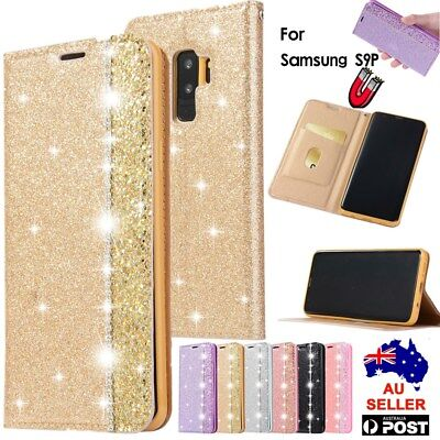 For Samsung S8 S9 Plus Note 9 8 Flip Leather Bling Patterned Wallet Case Cover