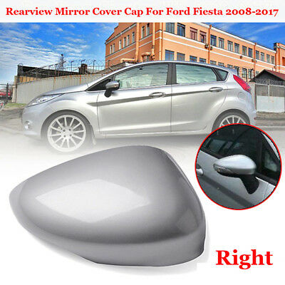 1pcs Front Right Side Door Rearview Mirror Cover Cap For Ford Fiesta MK7 2008-17