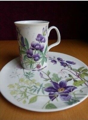 Roy Kirkham Sandwich Plate & Bone China Mug Countryside Breakfast Set 2000