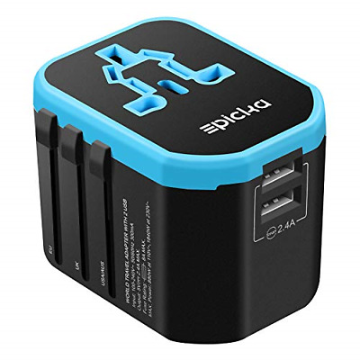 Travel Adapter - EPICKA All in One Worldwide Universal Power Adapter AC Plug USB