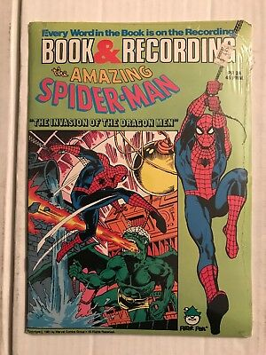 AMAZING SPIDER-MAN #PR-24 (Peter Pan 1981) Book And Record Set SEALED! NOS! RARE