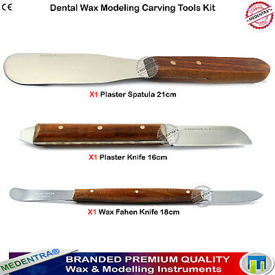 Dental Lab Waxing Carving Tools Kit Surgical Wax Plaster Alginate Knives Spatula
