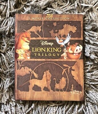 The Lion King 3-Movie Collection Blu-Ray Brand New Free First Class Shipping