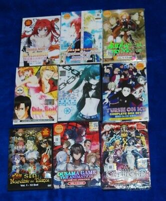 Skip Beat,OVERLORD,SEVEN DEADLY,TESTAMENT NEW SISTER DEVIL + ANIME DVD 9 LOT