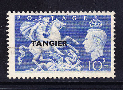 MOROCCO AGENCIES 1950 SG288 10/- of GB opt TANGIER - very fine used. Cat £15