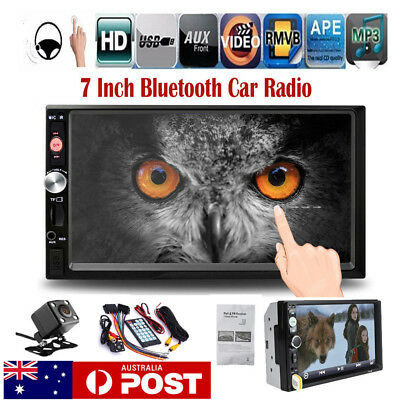 7'' Double 2DIN Touch Car Stereo Radio MP5 MP3 Player Head Unit Bluetooth+Camera