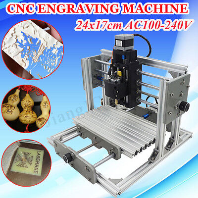 DIY 3 Axis CNC Mini Engraving Milling Cutting USB PCB Machine Printer Cutter Set