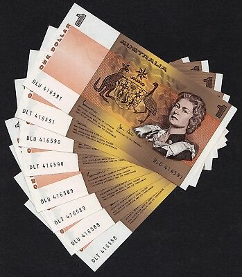 4 x CONSECUTIVE PREFIX PAIRS WITH MATCHING SERIAL NUMBERS $1 JOHNSTON/STONE
