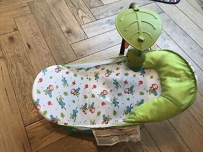 Summer infant Deluxe Baby Infant Bath Seat With Toy Bar Foldable Storage