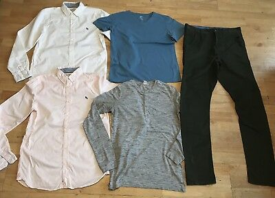 Boys bundle age 14-15 years next trousers long sleeved shirts tops t shirt pink