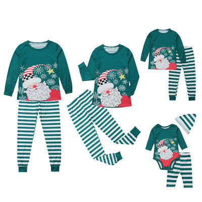 CO_ Family Matching Christmas Pajamas Sets Cotton Printing Sleepwear For the Fam