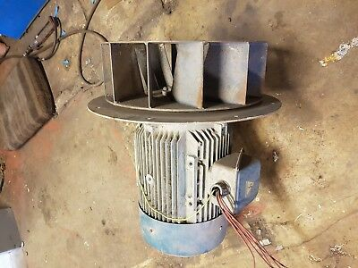 11kw 3 phase extractor motor with fan