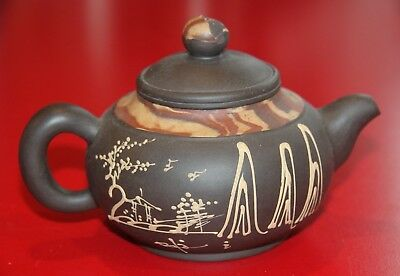 Vintage Teapot Brown Clay Small Asian Japanese Chinese for Green tea?