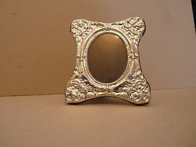 Victorian Style, Rose & Foliage Sterling Silver Hallmarked Photo Frame