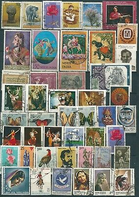 46 Indian Stamps , mainly Used , (NH)