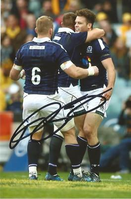 SCOTLAND & SARACENS RUGBY UNION: DUNCAN TAYLOR SIGNED 6x4 ACTION PHOTO+COA