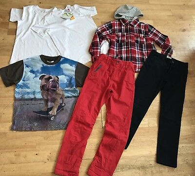 Boys bundle 9-10 years mini boden next m&s hooded shirt trousers t shirts