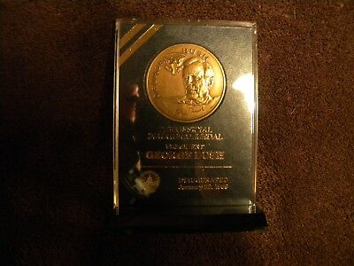 Official George H.W. Bush Inaugural Medal with Display Stand