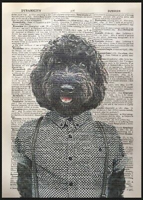 Black Cockapoo Print Vintage Dictionary Page Wall Art Picture Dog Cockerpoo