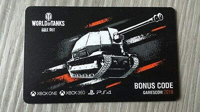 World of Tanks Roll Out Bonuscode (XBox One, XBox 360, PS4)