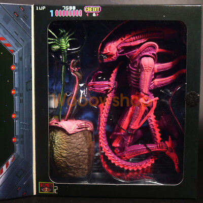 "NECA Aliens Pink Xenomorph Warrior Arcade Game Apprearance 7"" Action Figure New"