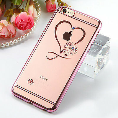 Luxury Sparkly Diamond Bling Crystal Soft TPU Silicone Skin Case Phone Cover