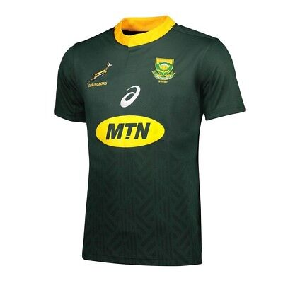 Large Asics South Africa Rugby Union 2018/2019 Shirt Home Pro Jersey.