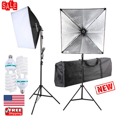 2Pcs 700W Photography Photo Studio Lighting Kit Continuous Softbox 50*70cm +Lamp