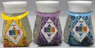 Airpure Colour Change Crystals Air Freshener Gel 3 Scents NEW UK STOCK