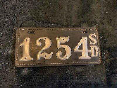 South Dakota Reproduction Leather Motorcycle License Plate
