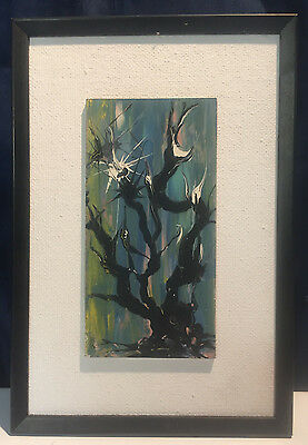Vintage Oil Painting Artist Signed Abstract Expressionism