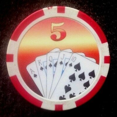 Casino $ 5 Very Collectible Chip Welcome To Lasvegas Poker