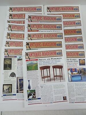 Antiques Roadshow Insider Publication Back Issues 2008-2009 Lot of 19 #7641