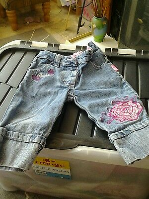 Baby girls barbie jeans size 1/2 years in great condition