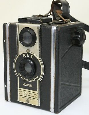 REX SYNCHRONISED (Coronet D-20) TLR Camera 120/620 Roll Film, c.1950s