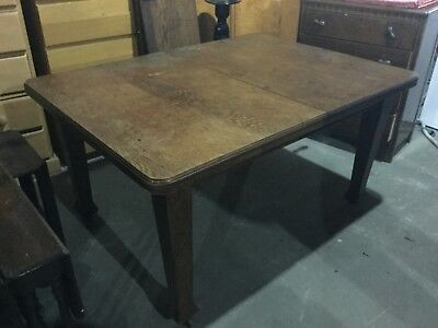antique edwardian oak dining table  made by selbat