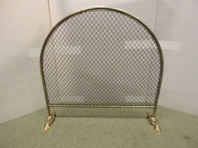 Victorian Brass Arched Spark Guard