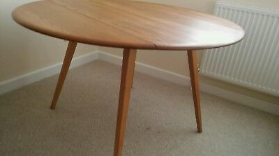 Swell Ercol Round Elm And Beech Drop Leaf Dining Table Windsor 384 Download Free Architecture Designs Salvmadebymaigaardcom