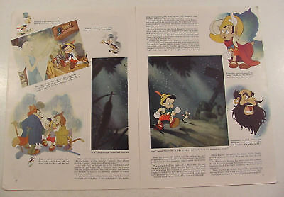 1939 The Story of Walt Disney's PINOCCHIO Illustrated Magazine Article