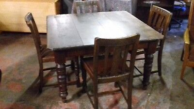 Antique Dining Table- Extending/Wind Out.