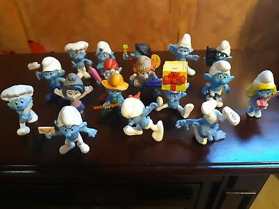 17 Smurf movie figures from McDonald's  2011 AND 2013