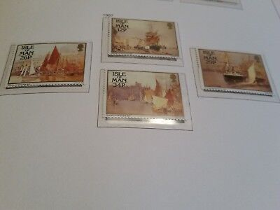 Isle Of Man 1987 Sg 340-343 Paintings  Mnh